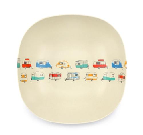 Coloured Caravans Bamboo Salad Bowl 23cm