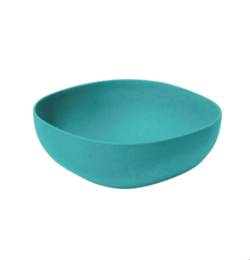 Green Bamboo Salad Bowl 23cm