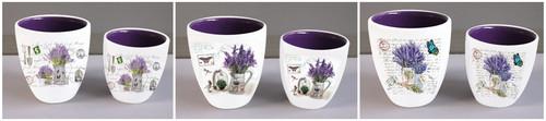 Lavender Ceramic Planter