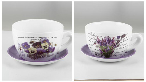 Lavender Teacup Planter
