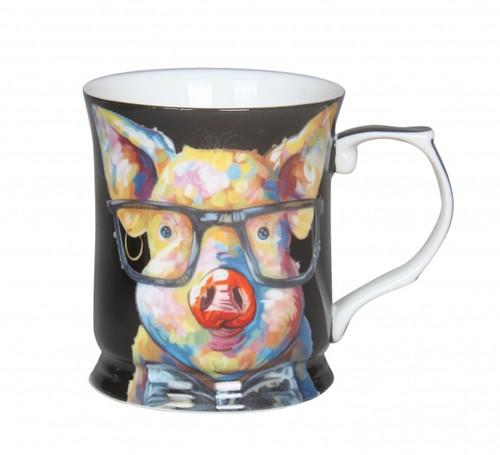 Cheeki Little Pig Mug Black