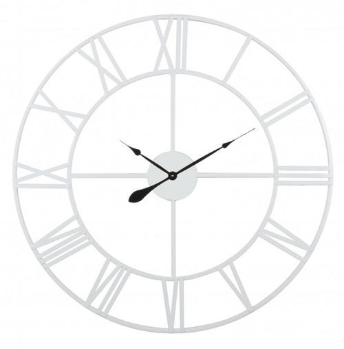 Thin White Metal Wall Clock 100cm
