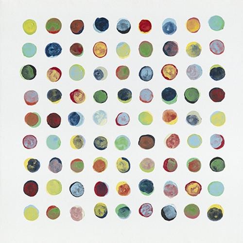 Colourful Dots Square Canvas 100cm