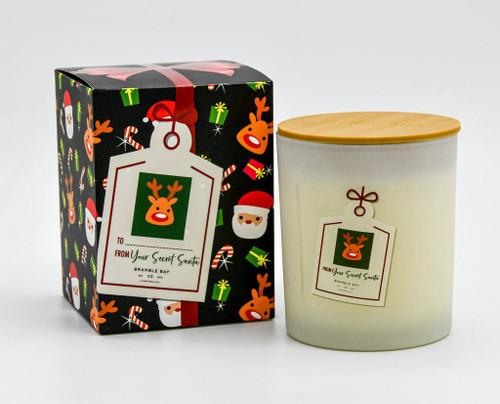 Reindeer Secret Santa Christmas Candle