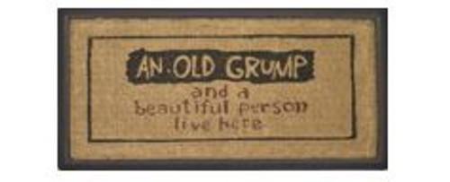 Old Grump/Beautiful Person Doormat