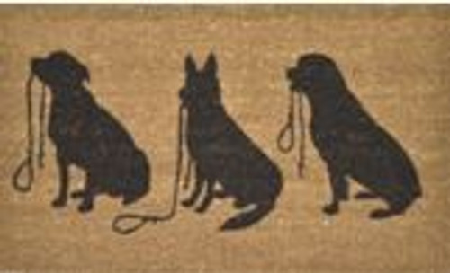 Dog Trio Doormat