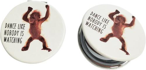 Dancing Orangutan Compact Mirror