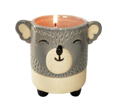 Koala-Shaped Vanilla Soy Candle