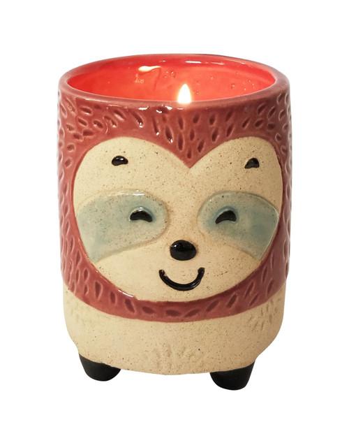 Sloth-Shaped Vanilla Soy Candle