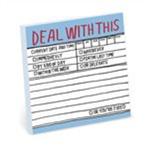 Deal With This Sticky Note Pad