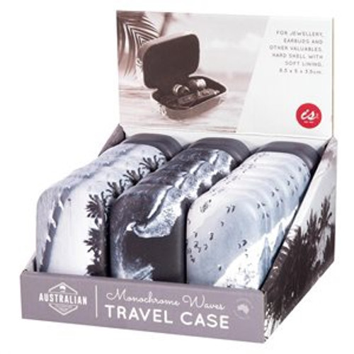 Monochrome Waves Hard Travel Case