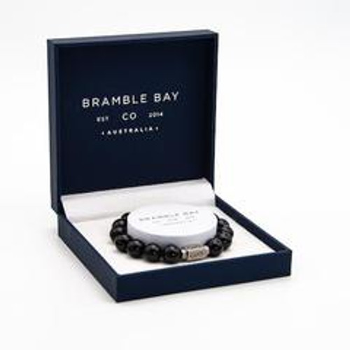 Black Agate Infinity Stone Bracelet