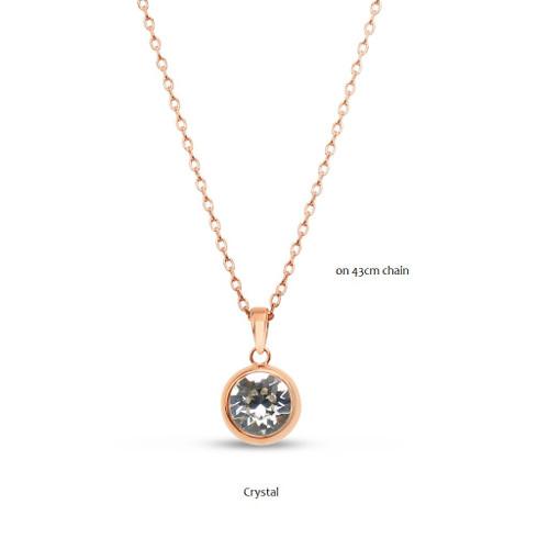 Rose Gold/Crystal Pendant