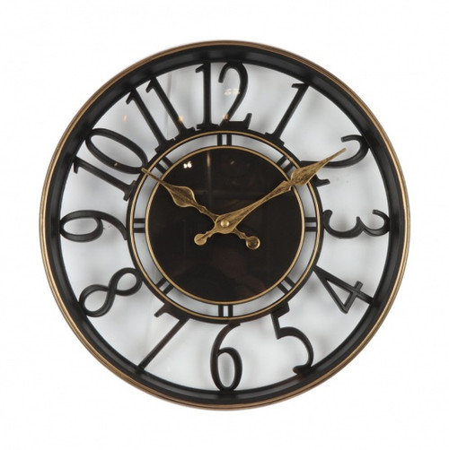 Black & Gold Cut Out Wall Clock