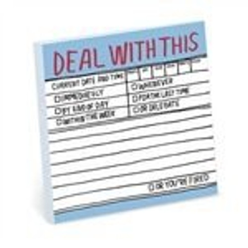 Copy of Deal With This Sticky Note Pad