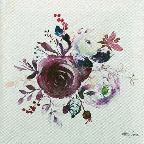 Purple Boho Floral Painting 20x20cm