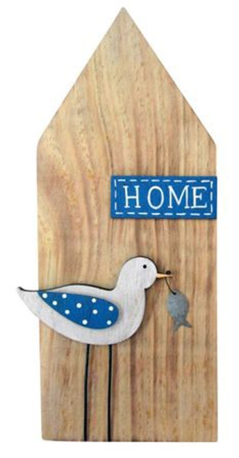 Wooden Seagull Home Sign