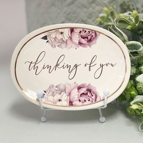 Thinking Of You Floral Trinket Dish