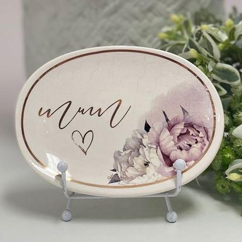 Mum Floral Trinket Tray
