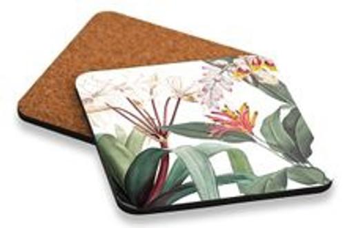 Lush Flower Coasters / Set 6