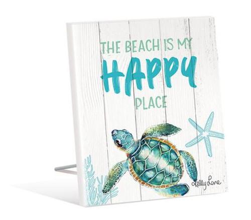 Happy Place Turtle Sentiment Plaque