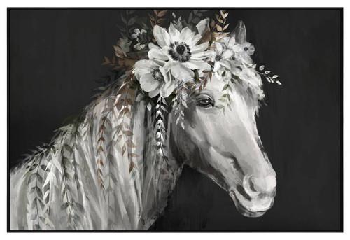 Floral Horse Canvas 88x128cm