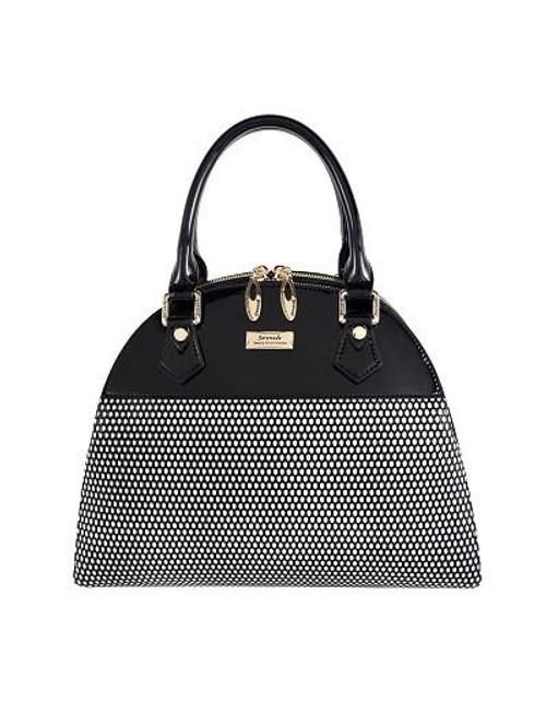 Mini Cosmo Triple Compartment Leather Handbag