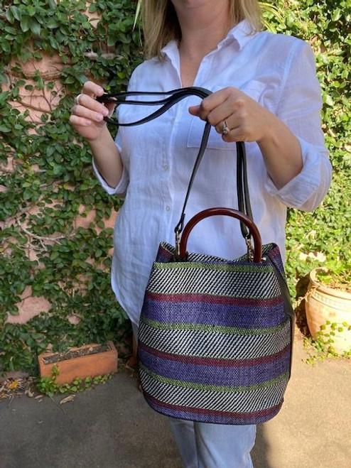 Poppy Cotton Tweed Bucket Bag