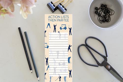 Action Lists- Golf Memo Pad