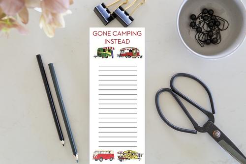 Gone Camping Memo Pad