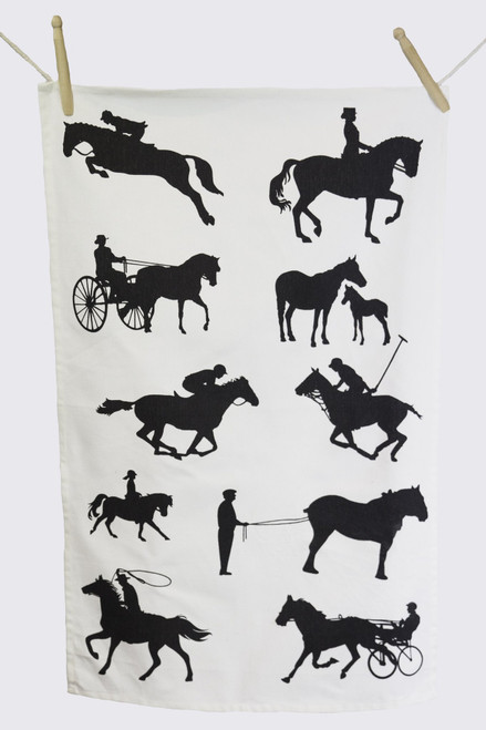 Horses Tea Towel