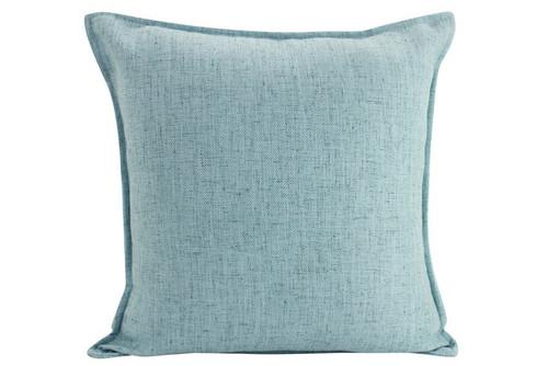 Square Light Blue Linen Cushion