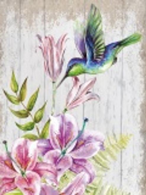 Hummingbird Canvas/ Blue&Green Bird
