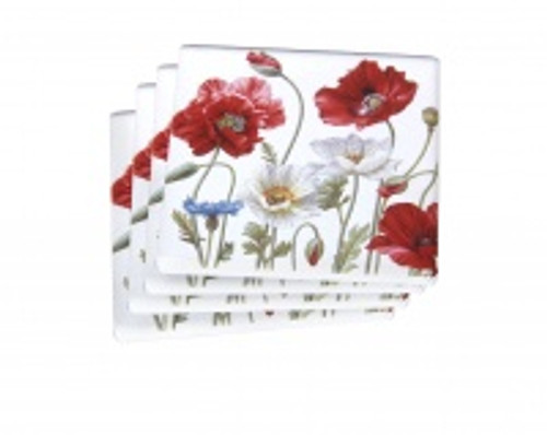 Poppies Coasters S/4