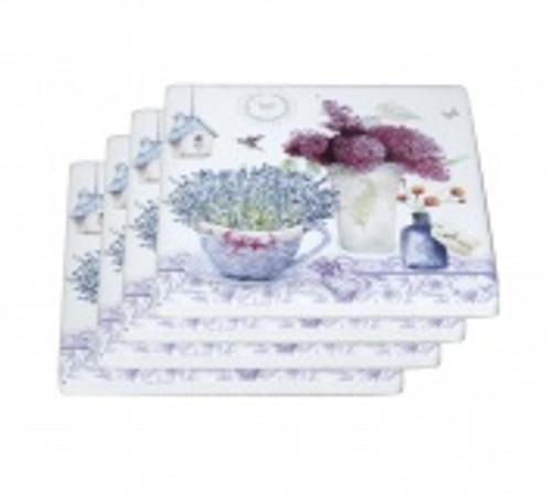Spring Lavender Coasters S/4