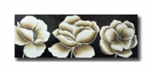 White Poppies Hand Painting Canvas