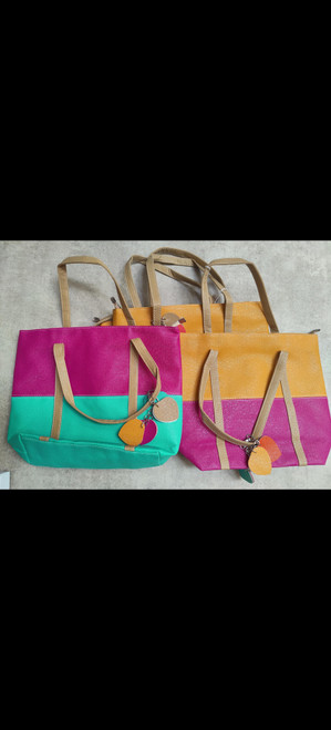Two Toned Colourful Bags