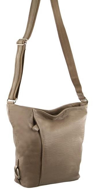 Milleni Ladies Nappa Leather Cross-Body Bag Brown