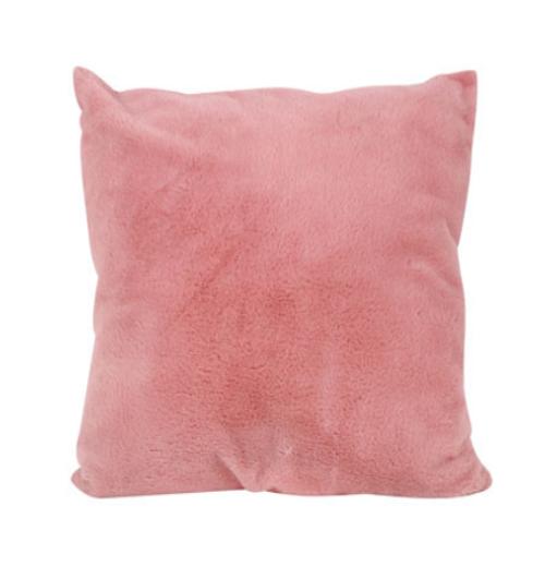 Mila Faux Fur Cushion Pink