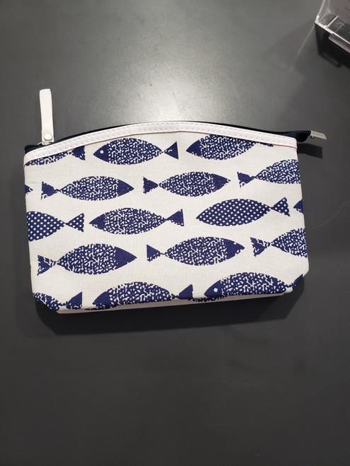 Blue Fish Zip Pouch