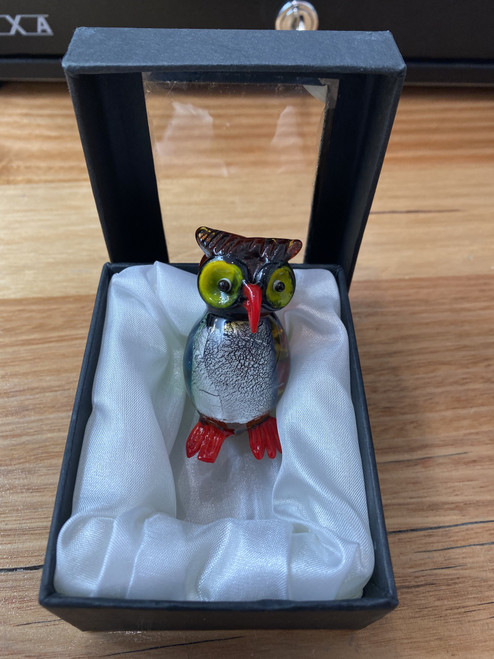 Glass Owl Ornament
