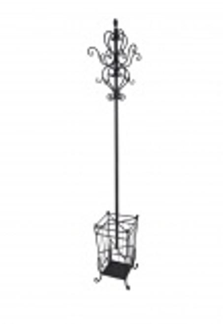Black Metal Coat & Umbrella Stand