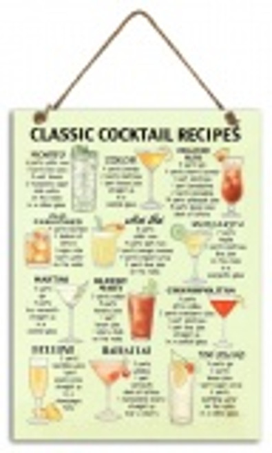 Classic Cocktail Metal Sign