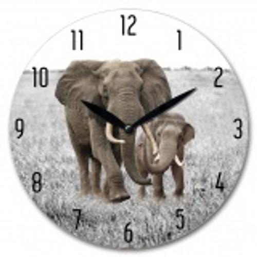 Elephant Wall Clock 28cm