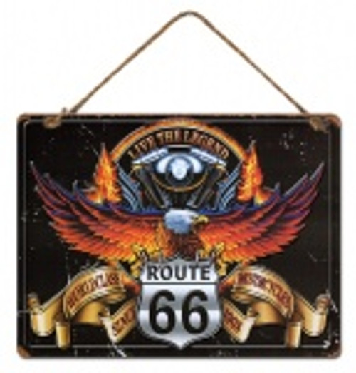 Route 66 Metal Wall Sign