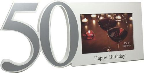 50th Cut Out Photo Frame