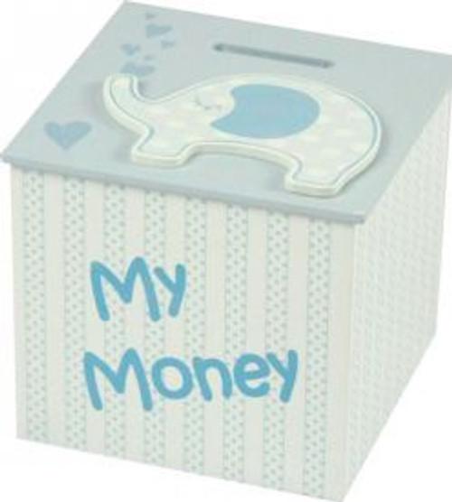 Blue Elephant Money Box