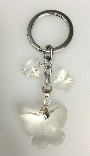 Clear Acrylic Butterfly Keyring