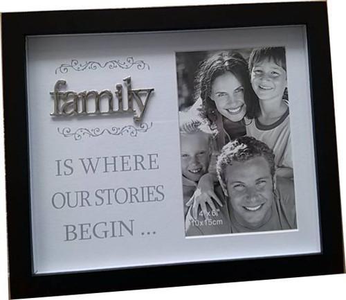 Family- Story Begins Photo Frame