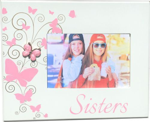 Sisters Photo Frame- Pink Butterfly
